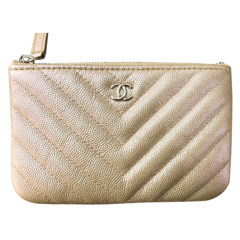 e618f2dd328e46 Chanel Iridescent Rose Gold Chevron Caviar | HEWI London