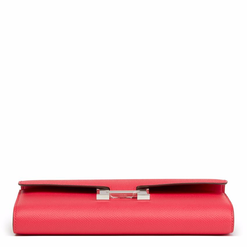 a4b200e82ef1 Hermes Rose Extreme Epsom Leather Constance Long Wallet. 27. 12345678910