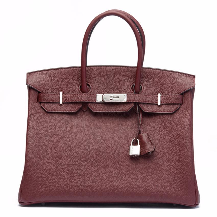 97cdbb67aba0 Hermes Bordeaux Togo Leather Birkin 35