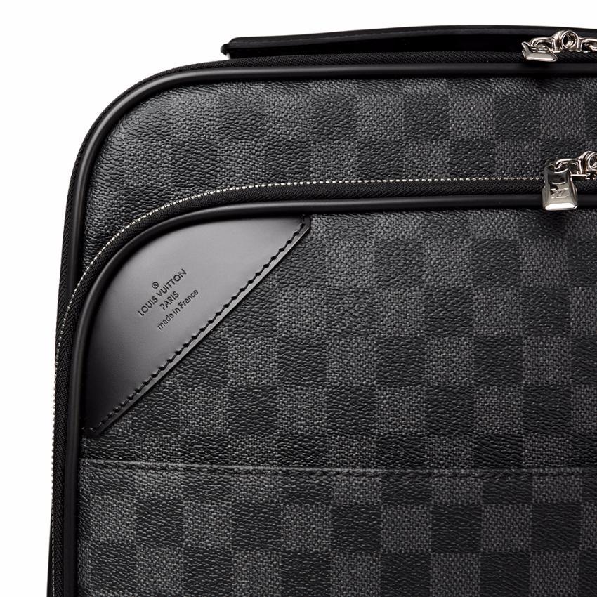 ea200e9e7 Louis Vuitton Graphite Damier Coated Canvas Pegase legere 55. 27.  12345678910