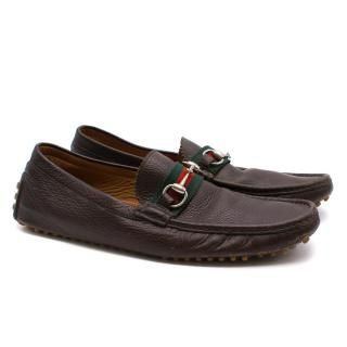 Gucci Chocolate Brown Horsebit Loafers