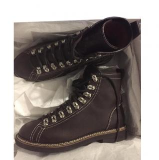 Givenchy Brown Fall 2017 Lace up men's Boots