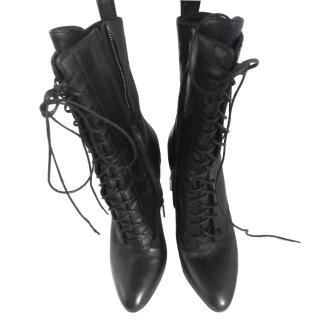 Balmain black heeled ankle boots