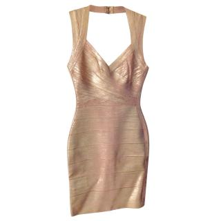 Herve Leger Rose Gold - Bandage Dress