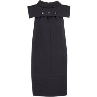 KARL LAGERFELD Black Geometric Crepe Dress