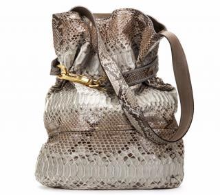 Chloe Taupe Joan Python Tote Bag