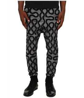 Vivienne Westwood Men's Grey and Black Squiggle Bottoms