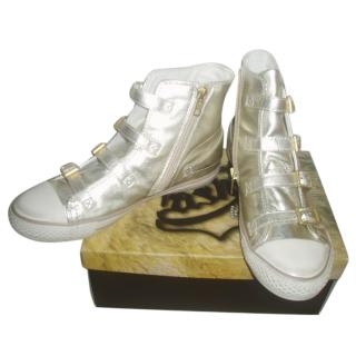 ASH Kids golden leather high trainers