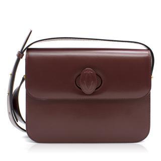 Cartier Cross Body Bag in Burgundy