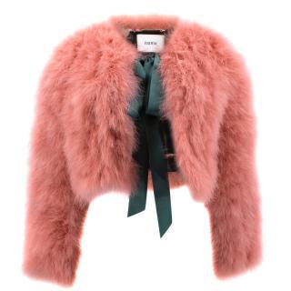 Erdem Ives Cropped Marabou Jacket