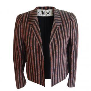 Chloe Striped Floral Bolero Jacket