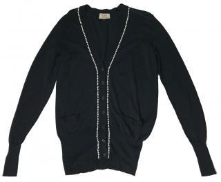 Yves Saint Laurent Pearls Detail Cardigan