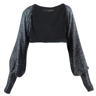 Amanda Wakeley Black Embellished Short Jacket