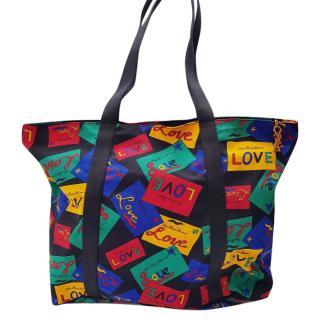 YSL Yves Saint Laurent Vintage Big Tote Shoulder Bag.