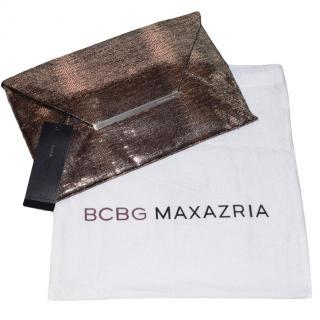 BCBG MAXMARZIA Metallic Harlow Envelope Clutch