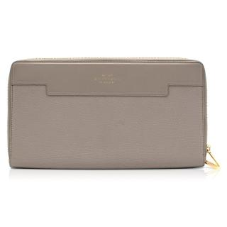 Smythson Cooper Grey Zip Clutch