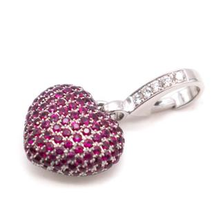 Theo Fennell Ruby Pave Heart Charm
