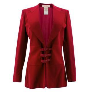Chloe Red Corduroy Jacket