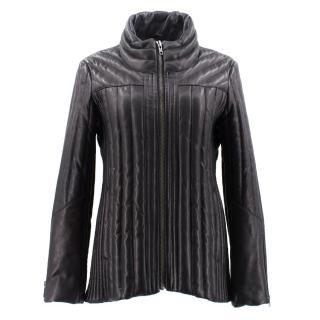 Helmut Lang Black Padded Leather Jacket