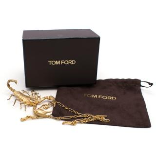 Tom Ford 14k Yellow Gold and Brass Scorpion Necklace