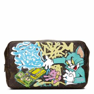Louis Vuitton Hand Painted 'Get This Money' Toiletry Pouch
