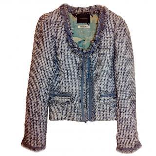 Maison Scotch Blue and white tweed jacket