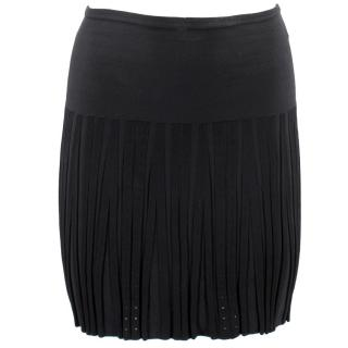 Chanel Black Pleated Mini Skirt