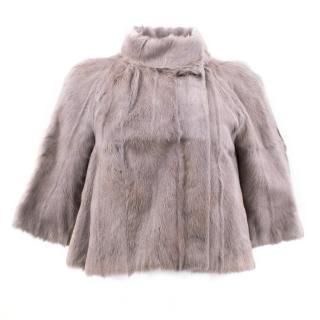 Marni Grey Dankalia Fur Jacket