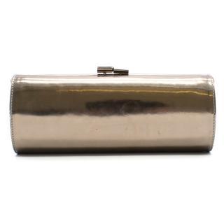 Jimmy Choo Mirror Silver Clutch