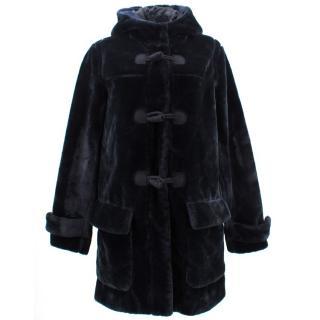 MSGM Faux Fur Hooded Coat