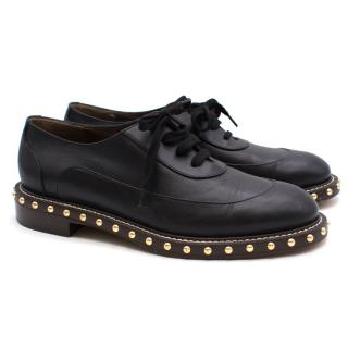 Marni Black Studded Oxford Shoes