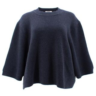 Acne Oversized Navy Short Jumper