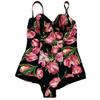 Dolce & Gabbana tulips print swimwear