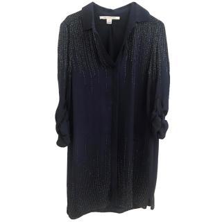 Diane Von Furstenberg navy blue dress