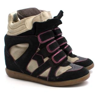 Isabel Marant Beckett High-Top Wedge Sneakers
