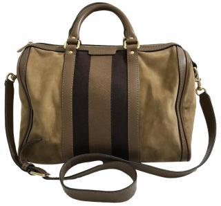 Gucci Suede Boston Bag