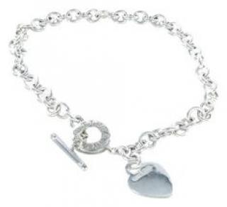 Tiffany and co toggle siver necklace