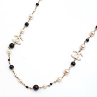 Chanel Long Necklace with Pearls