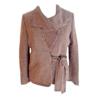 Sonia Rykiel Houndstooth Check Alpaca Jacket