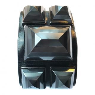 Givenchy Leather Cuff Bracelet .