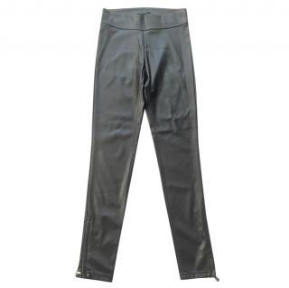 ERMANNO SCERVINO black faux leather leggings