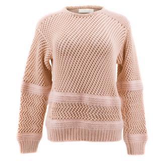 Chloe Pink Mohair Blend Knit Jumper