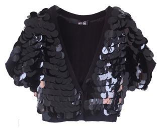 Love Moschino Black Sequin Bolero