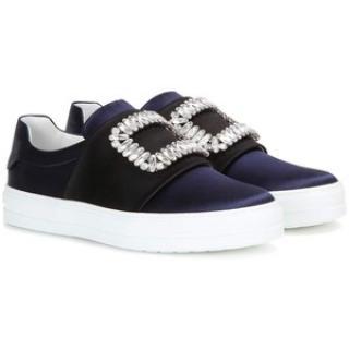Roger Vivier embellished satin sneakers