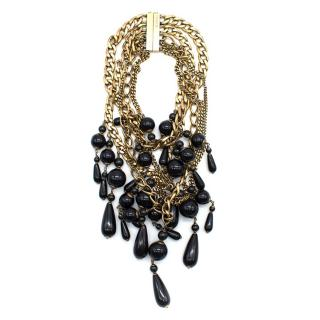 Gucci Gold & Black Beaded Necklace