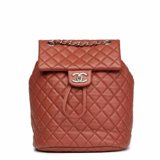 Chanel Brown Quilted Lambskin Small Backpack