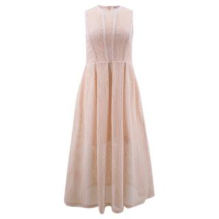 Sandro Mesh Overlay Dress