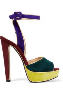 CHRISTIAN LOUBOUTIN 140 Colour-Block Suede Sandal