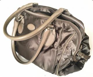 TODS leather trimmed nylon handbag