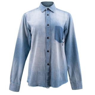 Saint Laurent Oversized Denim Shirt